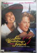 Four Weddings and a Funeral Original Movie Poster, Hugh Grant, Andie McDowell 94
